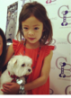 Modern Family's Aubrey Anderson-Emmons poses with her new friends Trevor the dog!