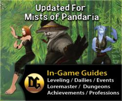 Dugi Mists of Pandaria Guide