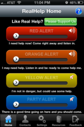 Activate a RealHelp Alert with the swipe of a finger.