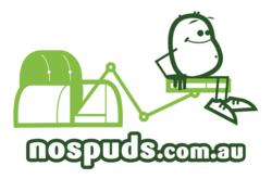 Logo for new Australian website nospuds.com.au