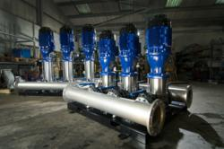 Water pump system at DPS HQ