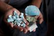 Raw turquoise ready for jewelry making