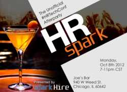 Party with Spark Hire at HR Spark on Monday October 8 from 7-11 pm