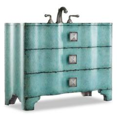 Chambers Sink Chest bathroom vanity From Cole And Co in Turquoise