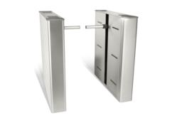 barrier arm optical turnstile for lobby security and entry control