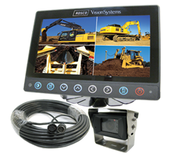Rear View Backup Camera System for Construction and Agriculture Heavy Equipment
