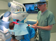Dr. Bernstein performing Robotic FUE hair transplant in his practice in New York City