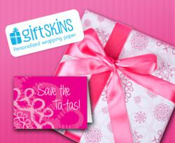 Personalized wrapping paper and greeting cards for Breast Cancer Awareness Month