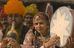 Indian culture folk musical instruments