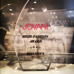 RaeLynn's Boutique receives 3rd Award from Jovani Fashions