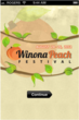 Winona Peach Festival Mobile App Home Screen