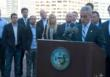SingleHop CEO, Zak Boca, (far left) with Mayor Emanuel and other Chicago tech CEOs.