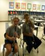 Everest middle school girls practice the clarinet during band practice.