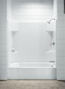 Good Accord Shower Tub Combo With Small Tile Walls From Sterling Ensemble ...