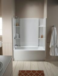 square tub shower combo. Accord 7116 Bathtub Shower Combo With 20 Inch Apron From Sterling A Selection of Combinations and a Shopper s Tip