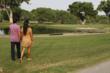 The lake at Tubac Golf Resort
