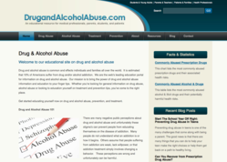 Educational Website Launches on Drug and Alcohol Abuse