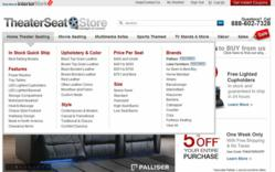Theater Seat Store Home Page - Redesigned 2012