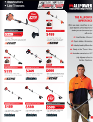 A sample page of the new AllPower catalogue