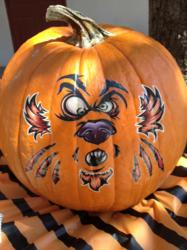 Decorate your pumpkin with temporary tattoos this Halloween!
