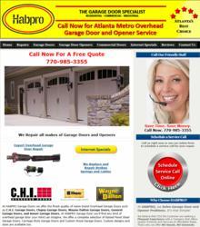 Habpro overhead garage door specialists receives kudzu for Garage door companies atlanta