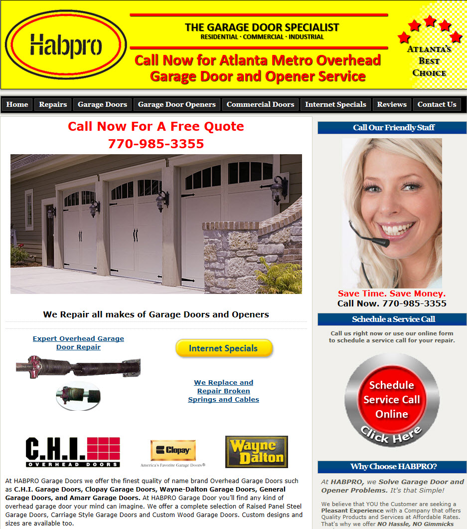 Habpro overhead garage door specialists earns kudzu best for Garage door repair lawrenceville