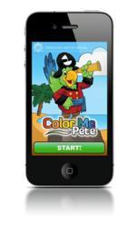 Color Me Pete iPhone App Start Screen