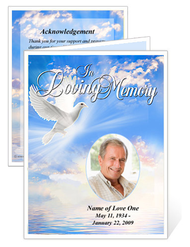 Online Superstore Creates Templates For Funeral Memorial Cards