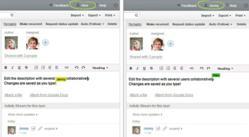 Wrike's live collaborative text editor