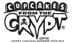 Johnny Cupcakes, tour, coffin, Halloween, event, pop-up shop, johnny earle, t-shirts, tees, apparel, hats, limited edition,