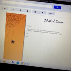 Halloween Email Stationery by Pickett's Press at MeebleMail.com