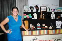The Artisan Group Founder Valerie Guerrero with Display at GBK's 2012 Primetime Emmys Gift Lounge
