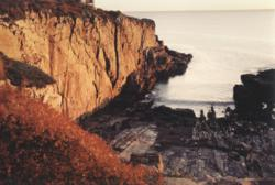 Maine's fall foliage is stunning against the Atlanctic Ocean as seen here at The Cliff House Resort & Spa.