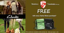 Receive a FREE Heys Travelmate with every Clarks Shoes online purchase!