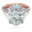 Oval Cubic Zirconia Micro Pave Engagement Ring