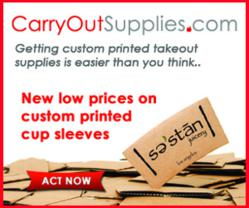 CarryOutSupplies.com rolls out lower prices for custom cup sleeves