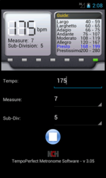 TempoPerfect NCH Metronome Android App