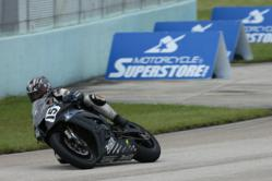 Motorcycle-Superstore.com Sponsored AMA Pro SuperBike Rider Steve Rapp Scored His Career-Best Finish in Miami