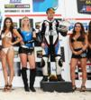 Steve Rapp on the Podium in 2nd Place in AMA Pro SuperBike Race 2 at Homestead-Miami Speeday