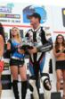 Steve Rapp is thrilled with his first podium finish in the 2012 AMA Pro National Guard SuperBike Series