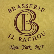 Chef Jean Jacques Rachou's Brasserie La Cote Basque Embroidered Logo on a Sweatshirt