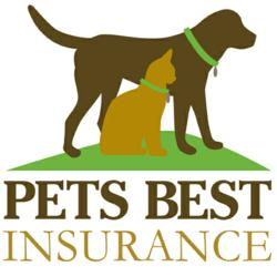 Pets Best Insurance Logo with Dog and Cat