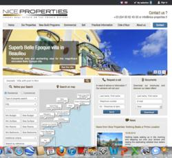 screenshot of Nice Properties website