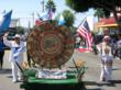 The Mayan calendar was brought through Pico Boulevard and Alvarado Street up to the parade destination in McArthur park.