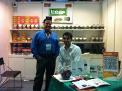 Leaf Brand's Booth at the Hong Kong Food Show