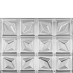 Dimond shaped looking, Aluminum backsplash tile that was used for Emme stage set.