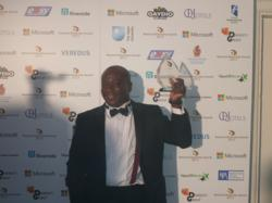 Mark Esho receiving his award for National Diversity Award
