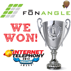 FonAngle's Hosted PBX wins Internet Telephony 2012 award