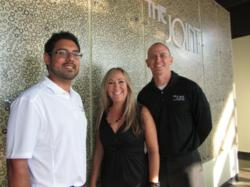 a picture of Adam Campos, Lisa Raggio and Dr. Andrew Haig