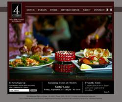 4 sisters, four sisters, website design, the blu group, advertising, web design